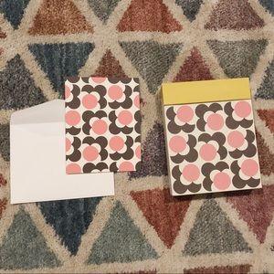 12 Orla Kiely notecards in box